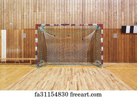 Marvelous Art Print   Retro Indoor Soccer Goal