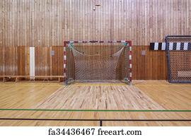 Art Print   Retro Indoor Soccer Goal