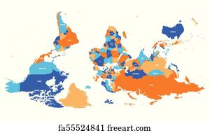 Flipped World Map.Free Flipped Map Art Prints And Wall Artwork Freeart