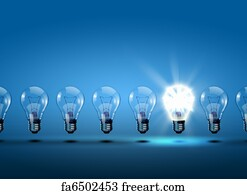Free light bulbs art prints and wall artwork freeart light bulbs art print row of light bulbs aloadofball Gallery