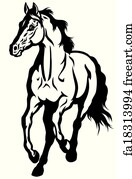 Free Art Print Of Mare With Foal Black White Foalblack