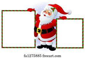 photo about Santa Claus Printable Pictures identified as Free of charge artwork print of Santa Claus sleigh