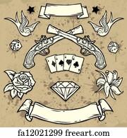 Free Old School Tattoo Art Prints and Wall Artwork | FreeArt