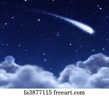 free art print of shooting star sky with stars of all sizes during