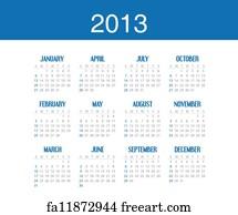 Free Simple Calendar Design Art Prints and Wall Artwork   FreeArt