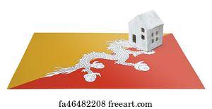 Free Flag Bhutan Art Prints and Wall Artwork   FreeArt
