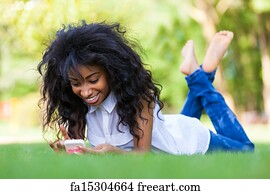 Matchless Black girl on phone for the