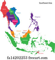 Free Thailand Vector Map Art Prints and Wall Artwork   FreeArt