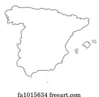 Map Of Spain For Printing.Free Map Spain Art Prints And Wall Artwork Freeart