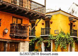 Free Art Print Of Spanish Colonial House Cartagena De Indias