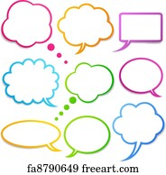 image about Printable Speech Bubbles identified as Totally free Speech Bubbles Artwork Prints and Wall Art FreeArt