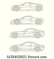Free Art Print Of Muscle Car Vector Muscle Car Freeart Fa31264726