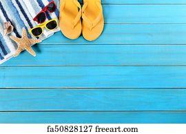 52d7b0e99c83 Free art print of Tropical beach summer starfish flip flops ...