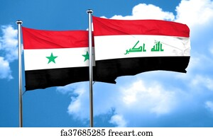Free Art Print Of Iraqi Somali And Syrian Flags The New Iraqi - Syria flag