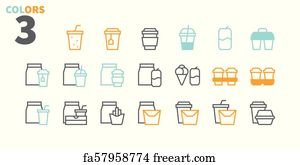 Free art print of Coffee Types Food UI Pixel Perfect Well-crafted Vector  Thin Line Icons 48x48 Ready for 24x24 Grid for Web Graphics and Apps with
