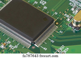 Free art print of Printed Circuit Board. Close up detail of a ...