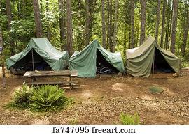 Tent Flap Art Print - Tents At Boy Scout C& & Free Tent Flap Art Prints and Wall Art | FreeArt