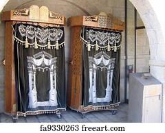 Torah Cabinet Art Print   The Western Wall. Jerusalem