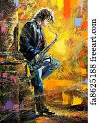 Free Saxophone Art Prints And Wall Artwork Freeart