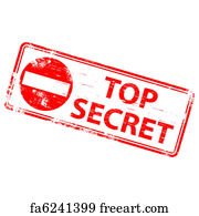 Free Art Print Of Top Secret Stamps Rectangular And Round