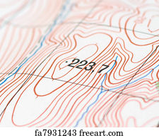Free Topographic Map Art Prints and Wall Artwork | FreeArt