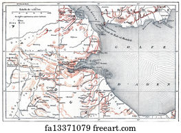 Free art print of Persian Gulf on vintage map. Persian Gulf region a ...