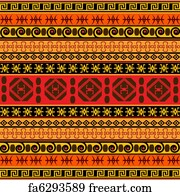 Free art print of African traditional patterns