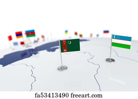Free neighboring countries art prints and wall art freeart neighboring countries art print turkmenistan flag sciox Image collections