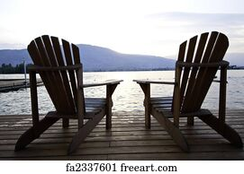 Adirondack Chair Art Print   Two Chairs