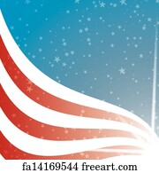 free art print of vector background usa flag with light and stars
