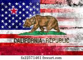 Free Art Print Of Outline American USA California State With