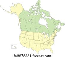 art print usa and canada states and provinces