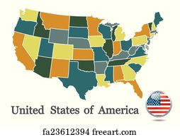 Free Art Print Of Usa Map Colored Map Of Usa Fifty States