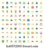 Five Star Tent Art Print - Vacation 100 Icons Set For Web  sc 1 st  FreeArt & Free Five Star Tent Art Prints and Wall Art | FreeArt