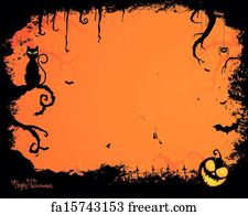 Free Art Print Of Vector Halloween Background