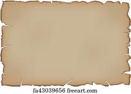 Free art print of Scroll of old paper with curled edges isolated