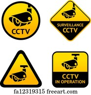 graphic about Video Surveillance Sign Printable named No cost Movie Surveillance Emblem Artwork Prints and Wall Art