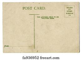 free art print of vintage postcard vintage postcard blank space