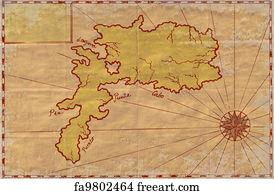 Map Of Treasure Island Florida.Free Treasure Island Map Art Prints And Wall Artwork Freeart