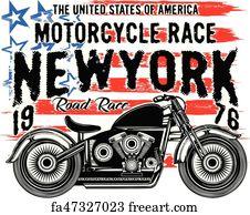 Free Motorcycle T Shirt Art Prints And Wall Artwork Freeart