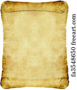 free art print of vintage parchment paper scroll an old antique or