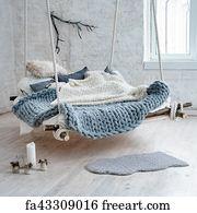 free art print of large bright modern bedroom interior design with post bed large bedroom with. Black Bedroom Furniture Sets. Home Design Ideas