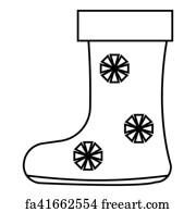 Free Art Print Of Knee High Felt Boots In Black Rubber Galosh Knee