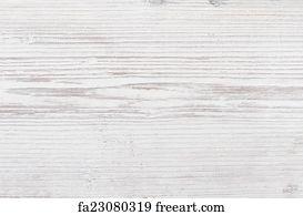 Art Print   Wooden Texture, White Wood Background