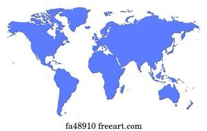 Free world map art prints and wall art freeart world map art print world map gumiabroncs Gallery