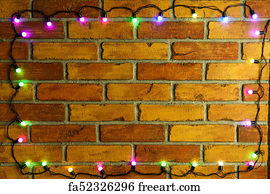 free fancy borders frames art print wreath and garlands of colored light bulbschristmas