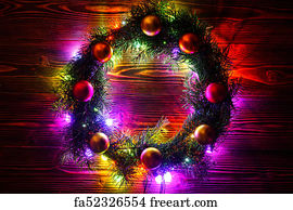 new year free fancy borders frames art print wreath and garlands of colored light bulbschristmas