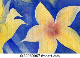 Free art print of watercolor painting of lotus flower original art art print yellow flower mightylinksfo Gallery